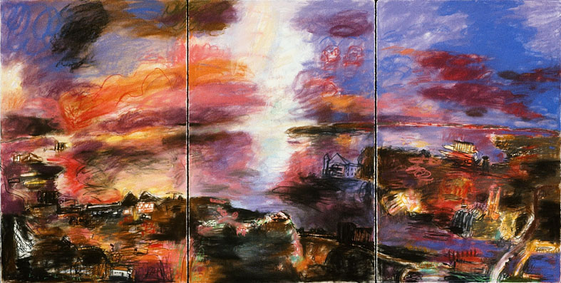 John Hartman: Study for Explosion in Midland Harbour, 1993